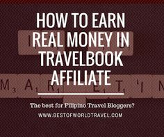 How to Earn Money Like Crazy With TravelBook Affiliate http://ift.tt/2b98voY