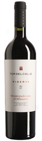 Tor Del Colle Montepulciano d'Abruzzo Riserva-Culinary suggestions: Intense flavour meat dishes