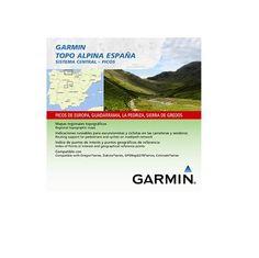 Garmin Topo Alpina España - Mapas para GPS, cobertura geográfica, Sistema Central - Picos