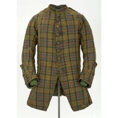 1740-1750 Scotland 18th Century Dress, 18th Century Costume, 18th Century Clothing, 18th Century Fashion, Scottish Clothing, Folk Clothing, Historical Clothing, Historical Costume, Celtic Clothing
