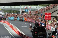 Tour de France (2012) Photos; Stage 0: Liége 6.4 km Prologue - The crowd in Liége cheering on Cancellara