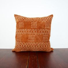Boho Rapsodia's (Give Back) African Collection - One of a Kind Brown and White Mudcloth Pillow (18x18 Cover Pillows)