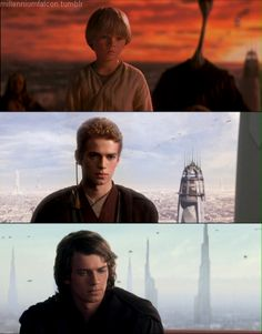 Anakin Skywalker (Jake Lloyd and Hayden Christensen) Star Trek, Film Star Wars, Star Wars Love, Star Wars Art, Darth Vader, Anakin Vader, Anakin And Padme, Anakin Skywalker, Anakin Dark Vador