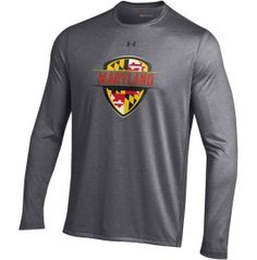 Under Armour Men's Maryland Terrapins Grey 'Maryland Pride' Carbon NuTech Performance Long Sleeve Shirt | DICK'S Sporting Goods