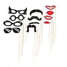 Mustache Party Costume Props | 12ct - $7.25