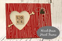 Faux Wood Grain Heart Frame - Organize and Decorate Everything