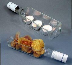 PREZENT. Eko-świecznik ze szklanej butelki.Unikat w Galeria Limart Lidia Becela na DaWanda.com