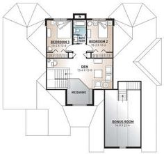 Florida Plan: 2,849 Square Feet, 3 Bedrooms, 2.5 Bathrooms - 034-00793 Florida House Plans, Florida Home, Jack And Jill Bathroom, Bonus Rooms, Best House Plans, Build Your Dream Home, Second Floor, Square Feet