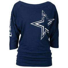 Amazon.com  Dallas Cowboys Navy Womens Dahlia Dolman Short Sleeve Shirt   Clothing Dallas af51115f2