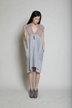 Boessert Schorn Knit Yoke Dress (Grey)