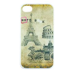 Apple iPhone 4 / 4S Hard Sided European Landscape Painting Case with Retail Package from China