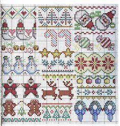Ricami, lavori e centinaia di schemi a punto croce di tutti i tipi, gratis: Raccolta di mini-schemi a punto croce