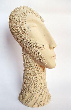 Rekha Goyal 'Untitled Head', 2006 Ceramic Art