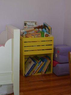 upcycling ideen möbel aus weinkisten dekoideen You are in the right place about Home Diy Crate Bookshelf, Bookshelves Kids, Bookshelf Ideas, Wood Crate Shelves, Kids Storage, Toy Storage, Storage Ideas, Crate Storage, Kid Book Storage