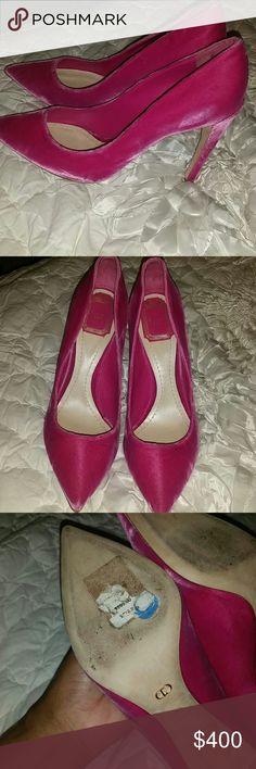 Christian dior pumps Velvet hot pink pumps 100% authentic Never worn Christian Dior Shoes Heels