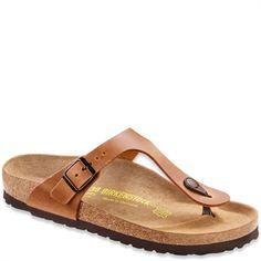 06d4691750e79f Birkenstock Gizeh Light Brown SLim Leather Kinder Schuhe