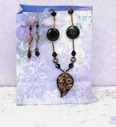 Copper and Black 2 pc Jewelry Set MCD4 by nenafashions on Etsy, $45.00
