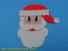 Como fazer o Papai Noel de eva. Artesanato de Natal - http://www.comofazerascoisas.com.br/como-fazer-o-papai-noel-de-eva-artesanato-de-natal.html