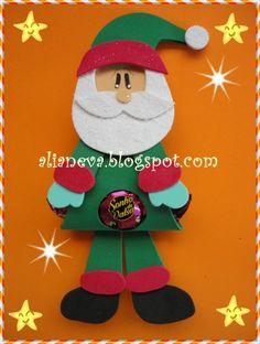 Porta bombones Papa Noel #gomaeva #foamy