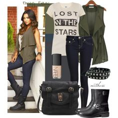 Emily Fields inspired outfit by natihasi-tv-edition on Polyvore featuring Zoe Karssen, True Religion, H&M, Angie and NARS Cosmetics