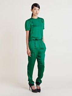Lanvin Women's Contrast Cuff Trousers