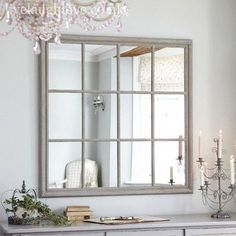 Stunning Ideas: Shabby Chic Mirror Painted Furniture shabby chic office she sheds. Shabby Chic Farmhouse, Shabby Chic Kitchen, Shabby Chic Homes, Farmhouse Style, Farmhouse Decor, Window Pane Mirror, Hallway Mirror, Room Window, Shabby Chic Mirror