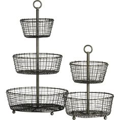 Tiered Baskets in New Kitchen & Food | Crate and Barrel