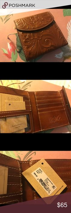 Patricia Nash Tooled Leather French Purse Wallet NWT. $95- Retail Patricia Nash Bags Wallets