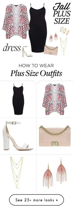 """Plus size Fall Dresses"" by shosho-mahmmod on Polyvore featuring Schutz, Boohoo, navabi, Chanel, Serefina, H&M, Fall, dresses and plussize"