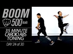 35 Min. HIIT Cardio Abs + Core Strength 500 Calorie Six-Pack Toning Workout | BOOM 500 Day 24 - YouTube