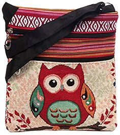 Amazon.com: Aibearty Boho Canvas Stripe Owl Crossbody Bag Tribal Little Purse Cell Phone Pouch: Cell Phones & Accessories Owl Purse, Cell Phone Pouch, Thing 1, Shopping Bag, Elephant, Crossbody Bag, Bohemian, Shoulder Bag, Purses