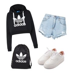 """Untitled #38"" by mursitsanna on Polyvore featuring Nobody Denim, adidas and adidas Originals"