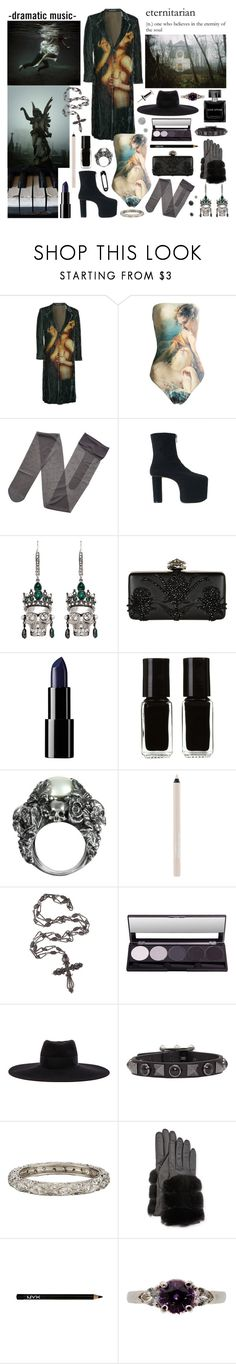 """she wanna know your soul"" by nothingisnormal ❤ liked on Polyvore featuring Yohji Yamamoto, Vivienne Westwood, Gerbe, Micol Ragni, Alexander McQueen, The New Black, Ugo Cacciatori, Maybelline, Maison Michel and Valentino"