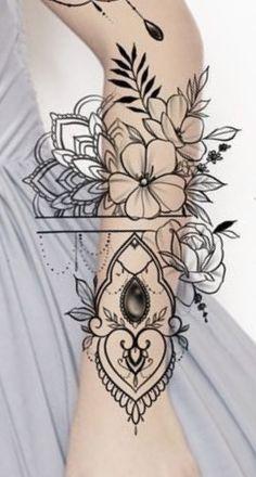 Hand Tattoos, Tattoo Femeninos, Wrap Tattoo, 12 Tattoos, Love Tattoos, Beautiful Tattoos, Tattoo Drawings, Clock Tattoo Design, Floral Tattoo Design