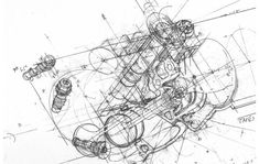 Ferrari Engine Drawing