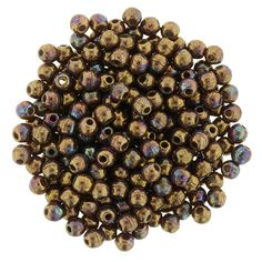 5-02-15764 Round Beads 2mm : Oxidized Bronze Berry