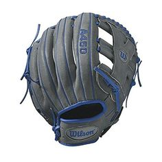 "Wilson Advisory Staff Puig Baseball Glove, 12"", Grey/Blue, RT/LT"