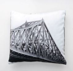 Pillow cover Jacques-Cartier Bridge - landmark of Montreal Jacques Cartier, Cushion Covers, Pillow Covers, Bed Pillows, Cushions, Picture Icon, Of Montreal, Gifts For My Boyfriend, Black And White
