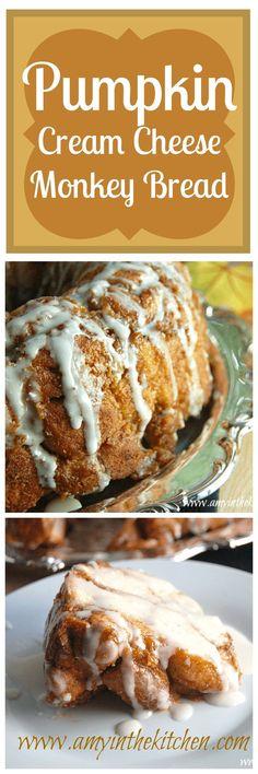 A delicious recipe for Pumpkin Cream Cheese Monkey Bread. Yummy!
