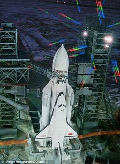 The Buran space shuttle (left) bears some obvious similarities to Nasa's Space Shuttle