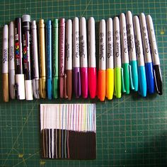 Comparing and testing permanent markers for craft purposes Permanent Marker, Markers, Purpose, Arts And Crafts, My Favorite Things, Pretty, Blog, Products, Sharpies