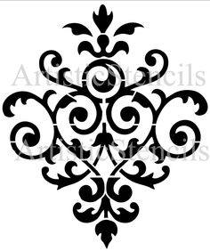 Idea for half bath stencil project. STENCIL Vintage Damask Wallpaper Background No by ArtisticStencils, Damask Stencil, Damask Wallpaper, Stencil Patterns, Stencil Art, Stencil Designs, Wallpaper Backgrounds, Damask Patterns, Stenciling, Stencil Printing