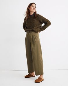Huston Pull-On Crop Pants in Enbrook Plaid Wide Leg Cropped Pants, Wide Leg Denim, Wide Leg Pants, Colourful Outfits, Retro Outfits, Pleated Pants, Pull On Pants, Women's Pants, Pants For Women