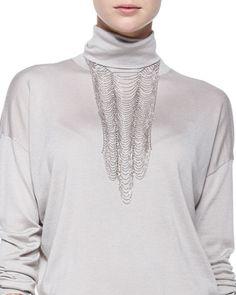 Y2QRD Brunello Cucinelli Scalloped Breastplate Necklace