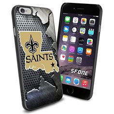 """New Orleans Saints Team Metal Logo iPhone 6 4.7"""" Case Cover Protector for iPhone 6 TPU Rubber Case SHUMMA http://www.amazon.com/dp/B00VR2I3Z4/ref=cm_sw_r_pi_dp_P9v9vb1K8ZDV1"""