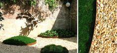 wine barrel rings as planters