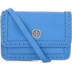 Tory Burch Robinson Saffiano Leather Mini Cross-Body Bag found on Polyvore