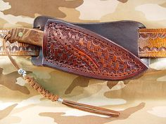 Schrade PH2W Custom Leather Cross Draw Sheath Knife not included
