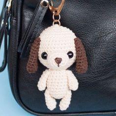 Amigurumi dog keychain/bag charm