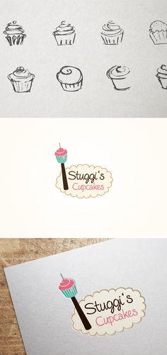 Für Stuggi's Cupcakes, einem Start-Up, entwickelte Smoco das Logo. Für Werner Braun - Bau, Garten & Forst entwickelte Smoco ein Logo, sowie Visitenkarten, Brief- und Faxpapier. | #design #logo #cupcake #baking #skytower #fernsehturm #stuttgart #Germany | made with love in Stuttgart by www.smoco.de